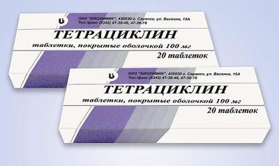 Тетрациклин схема приема